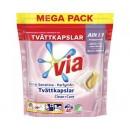 Tvättmedel Via Tvättkapslar Color Sensitive 40st/fp