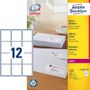 Adressetikett Avery L7164 63,5x72mm 1200st/fpk (Miljö)