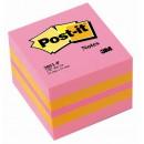 Post-it Minikub 51x51mm Pink (Miljö)