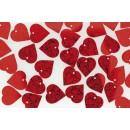 Paljetter Röd Hjärtan 100g